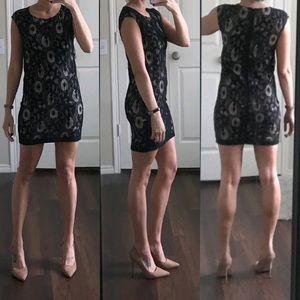 LOFT black tan nude ivory lace sleeveless dress